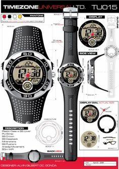 Time Zone Universal  LTD. Watches  designed by: Alvin Gilbert Dc. Gonda  abugonda@yahoo.com Design Development, Behance, Concept, Graphic Design, Watches, Wristwatches, Clocks, Visual Communication