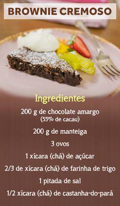 Rita Lobo ensina a fazer aquele brownie denso e cremoso que é irresistível!