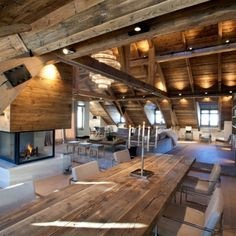 Modern Interior Concept For Rustic Log Cabin Ice Winter House .