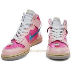 pick up 598e7 a162c 306793 016 Nike Dunk High Women Hello Kitty Blue Pink K02005