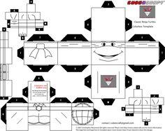 classic Ninja Turtles Blank cubee template by lovefistfury on deviantART