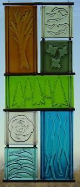 Window Hangings Incorporate kiln carving into panels