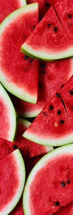 High in vitamins A and C, watermelon is said to fight free radicals with its large amount of lycopene (a potent antioxidant).