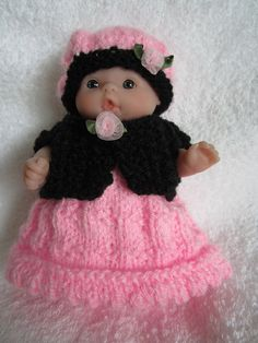 Knit Doll Clothes for Berenguer Itty Bitty Baby Doll by WeGirls, $11.00