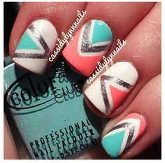 Having short nails is extremely practical. The problem is so many nail art and manicure designs that you'll find online Get Nails, Fancy Nails, Love Nails, How To Do Nails, Pretty Nails, Hair And Nails, Tribal Nail Designs, Tribal Nails, Cute Nail Designs