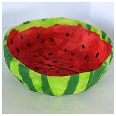 hello, Wonderful - PAPER WATERMELON BOWL CRAFT