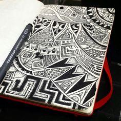 Prehispanic Mandala  #moleskine, #staedtler, #sketch, #blackartwork, #pointillism, #blackandwhite, #iblackwork, #mandala, #tattooart, #texture, #prehispanicart, #prehispanic, #mexico