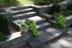 stone steps on a slope - Google Search