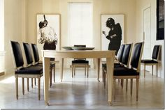 Classic furniture in a contemporary area