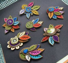 I found it to be impossible to put down this project... I was determined to make as many brooches I could from the leaves I had made.