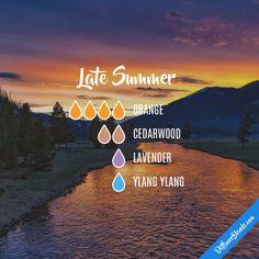 Late Summer - Essential Oil Diffuser Blend #Essentialoildiffusers