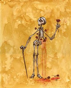 Day of the Dead Artist David Lozeau, A Rose for the Pretty Lady, Day of the Dead Art, David Lozeau Dia de los Muertos Art