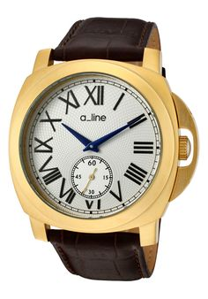 Price:$106.99 #watches a_line 80007-YG-02-BR, a_line's pyar collection (which means love in Hindi) follows a_line's philosophy of bringing women the same quality and luxury of watches that men have been getting for years at a value. To that end a_line allows women to wear a large timeless watch that has a feminine touch. Your husband will be jealous.
