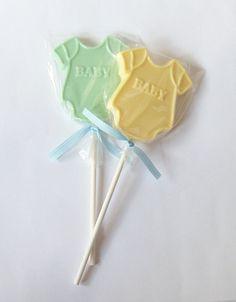 1 DOZEN Chocolate ONESIE Lollipops Baby Shower By Hitsthespot, $15.00