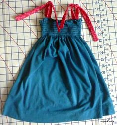 Snips & Spice: T-Shirt Upcycle to Toddler Dress