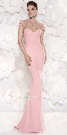 Tarik Ediz Eslina sweetheart evening gown