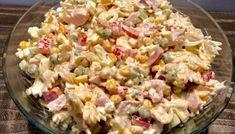 Sałatka z makaronem i wędzonym kurczakiem Salad Recipes, Healthy Recipes, Tortellini, Pasta Salad, Potato Salad, Salads, Food Porn, Lunch Box, Health Fitness