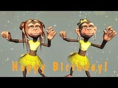 Funny Text Birthday Cards 3 45 Funny Happy Birthday song Monkeys Sing Happy Birthday to Happy Birthday Dancing, Singing Birthday Cards, Happy Birthday Sister Funny, Happy Birthday Funny Humorous, Happy Birthday For Him, Happy Birthday Video, Birthday Wishes Funny, Youtube Birthday, Card Birthday