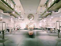 The interior of the modern building at the Museo Nazionale Romano alle Terme di Diocleziano, Rome