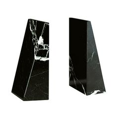 Black Zebra Professional Marble Bookends by Room & Board