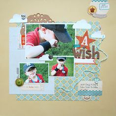 By Diana Fisher - using the Scrapbook Circle Fresh Picked kit.