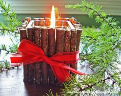Rustic Christmas Candle