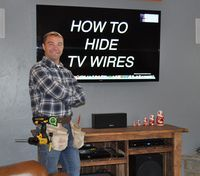 Learn how to hide tv wires behind the wall by watching Pete's Do It Yourself video tutorial. His method is code compliant, simple, and safe to do. verstecken How to Hide TV Wires Cacher Cable Tv, Hide Tv Wires, Hide Tv Cables, Hiding Cables, Hide Cable Box, Ideas Cabaña, Do It Yourself Videos, Hidden Tv, Tv Furniture