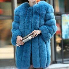 Queen Devin Faux Fur Coat - (more colors) (XS-3XL) — Pink Plastic Christian Lacroix, Polo Coat, Paisley, Vogue, Fox Fur Coat, Blue Coats, Warm Coat, Clothes For Women, Fashion Women