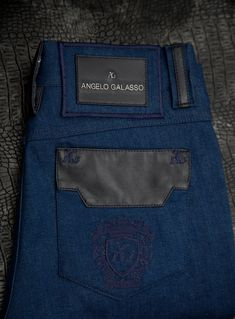 0918b97dbd506 We only use the best quality of calf leather and denim in our beautiful  jeans.