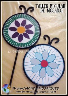 Mosaic Garden, Mosaic Art, Garden Deco, Fused Glass, Coasters, Flora, Mandala, Decorative Plates, Outdoor Blanket