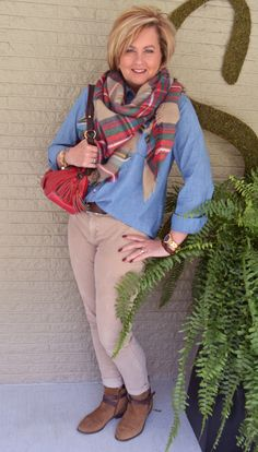 """Fashion over 40 Styling """"The"""" Blanket Scarf @50isnotold.com"""