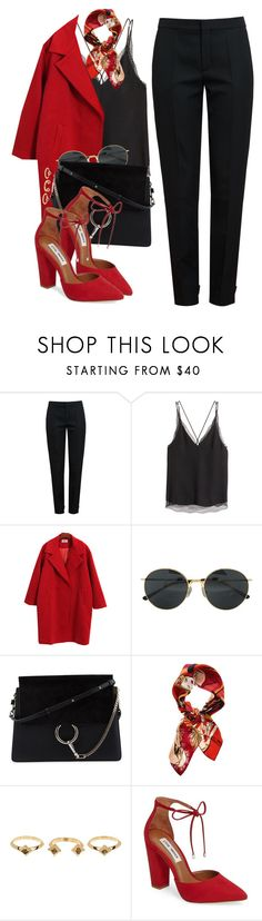 """16 ☼"" by hey-nice-to-meet-you ❤ liked on Polyvore featuring Chloé, H&M, Chicnova Fashion, Dries Van Noten, Christian Dior, House of Harlow 1960, Steve Madden, black and red"
