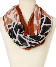Look what I found on #zulily! Brown & Black Giraffe Infinity Scarf #zulilyfinds
