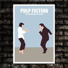 Pulp Fiction Movie Art Print Poster by DalliancePrints on Etsy, £19.95
