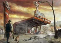 Fuel-station-by-KKom by K-Kom on DeviantArt