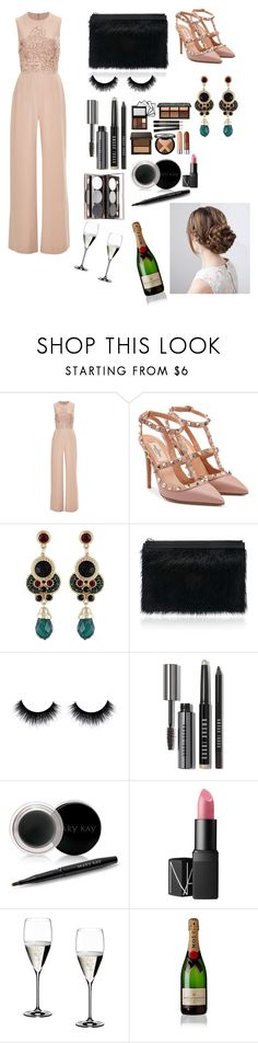"""""""Untitled #405"""" by madalenacaetano on Polyvore featuring moda, Elie Saab, Valentino, Proenza Schouler, Bobbi Brown Cosmetics, Mary Kay, Nude by Nature, NARS Cosmetics, Riedel e Moët & Chandon"""