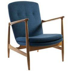 Finn Juhl Easy Chair for Bovirke