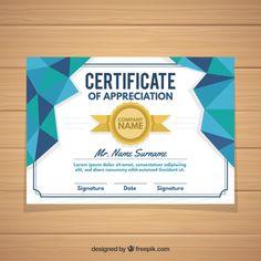 Elegant certificate template Free Vector Certificate Design, Certificate Templates, Certificate Of Appreciation, Cool Posters, Signature Design, Company Names, Lorem Ipsum, Vector Free, Vectors