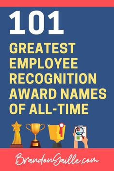 employee appreciation ideas Here are the 101 most creative employee recognition award names of all-time. I have broken these incredible award names into categories, from cre Reward And Recognition, Recognition Awards, Employee Recognition Quotes, Recognition Ideas, Workplace Motivation, Staff Motivation, Fun Awards For Employees, Employee Rewards, Employee Incentive Ideas