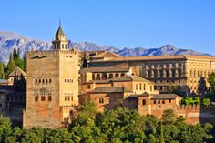 Granada, Andalusia, Spain  Built in the 9th century, originally as a fortress, the Calat Alhambra was converted into a royal palace in the 14th century by the then Sultan of Granada, Yusuf I.