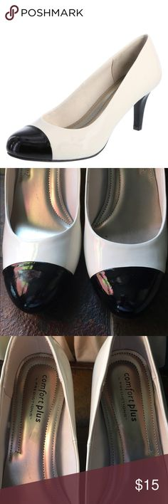 New black White comfort plus heels Beautiful. Many outfits to wear with. Comfort plus by predictions Shoes Heels