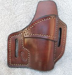 Right / Brown / IWB / Glock 42 Holster by JacksonLeatherWork Xds 45 Holster, Boot Holster, Leather Iwb Holster, Holsters, Leather Knife Sheath Pattern, Leather Projects, Leather Crafts, Wood Projects, Custom Leather