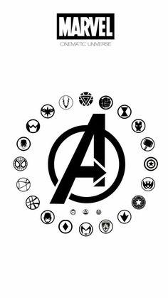 All avengers heroes symbols Avengers Symbols, Avengers Quotes, Avengers Imagines, The Avengers, Avengers Room, Marvel Tattoos, Avengers Tattoo, Marvel Dc Comics, Marvel Heroes