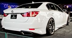 Striking new Lexus 2013 GS 350 with subtle customization done by five axis as a project for the 2011 SEMA show in Las Vegas. Lexus 300, New Lexus, White Lexus, Lexus Cars, Jdm Cars, Lexus Models, Sport Truck, Honda Odyssey, Import Cars