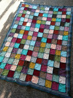 crochet afghan granny square patchwork