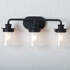 Browse farmhouse bathroom lights and farmhouse vanity light fixtures from Shades of Light! Shop styles like modern and black farmhouse vanity lights today. Bathroom Styling, Modern Bathroom, Bathroom Decor, Industrial Bathroom, Black Bathroom, Industrial Vanity, Industrial Vanity Light, Bathroom Lighting, Bathroom Design