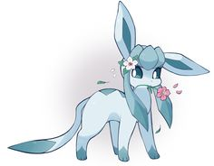 Glaceon can enjoy Spring too! <<< Just dont freeze anything Glaceon. Eevee Cute, Pokemon Eeveelutions, Cute Pikachu, Pokemon Fan Art, All Pokemon, Pokemon Cards, Pokemon Stuff, Cute Pokemon Pictures, Pokemon Images