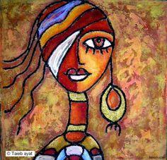Taieb Ayat Un graphisme simple, des couleurs, des jeux de lignes qui s'entrecroisent, voici de nouveau un artiste dont on peut s'inspirer pour la classe, j'adore ! Côté mise en œuvre : pour...