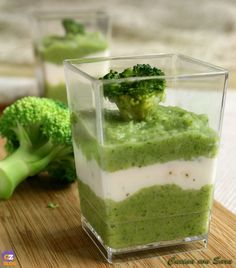 Vellutata di broccoli e caprino - ricetta finger food /CUCINA CON SARA