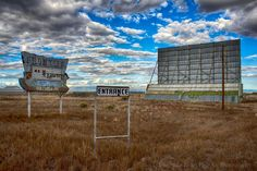 An abandoned drive-in theater in the San Luis Valley.